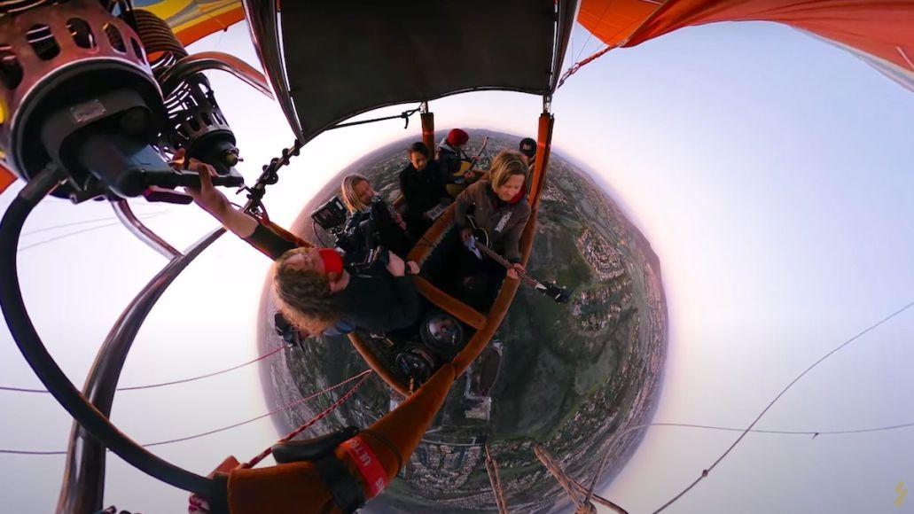 Switchfoot hot-air balloon livestream concert Float stream video, photo via YouTube