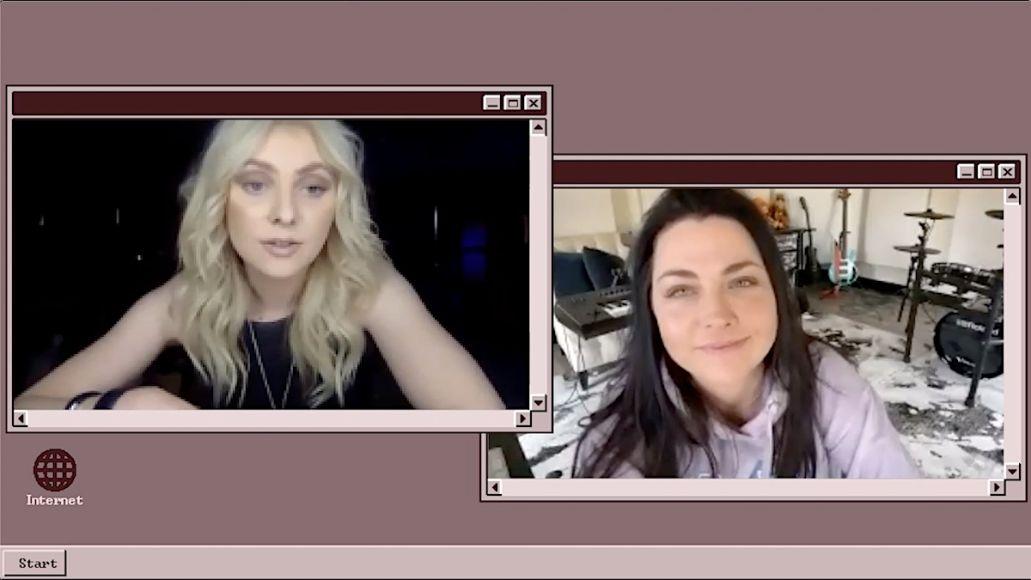 Taylor Momsen and Amy Lee Peer 2 Peer video interview
