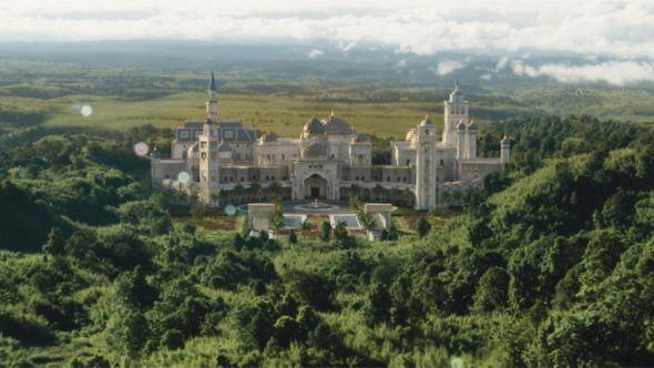 Coming 2 America palace real Rick Ross house mansion Zamundan Palace (Amazon Studios)