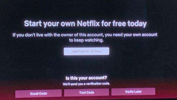 netflix password crackdown test