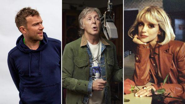 Paul McCartney, pictured alongside Damon Albarn and St. Vincent