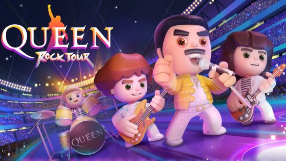 queen rock tour mobile rhythm video game