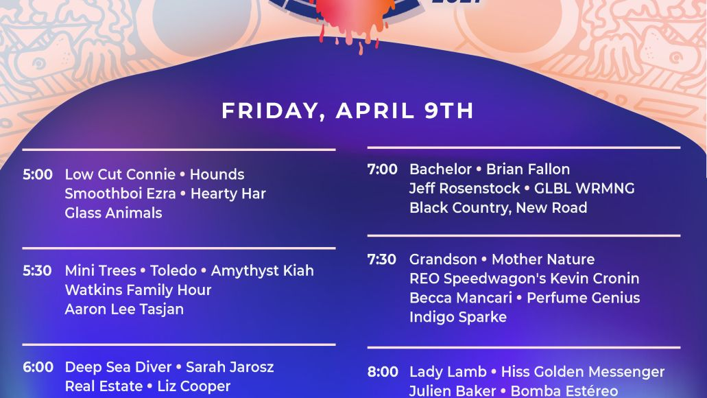Protect Live Music Livestream: Friday Schedule