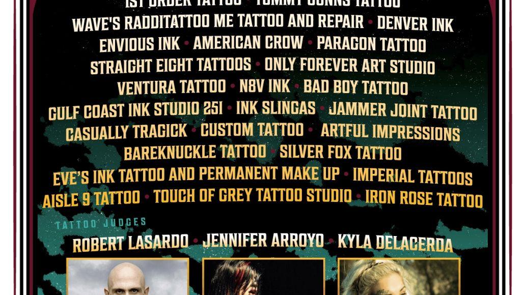 Inkcarceration 2021 Tattoo Artists