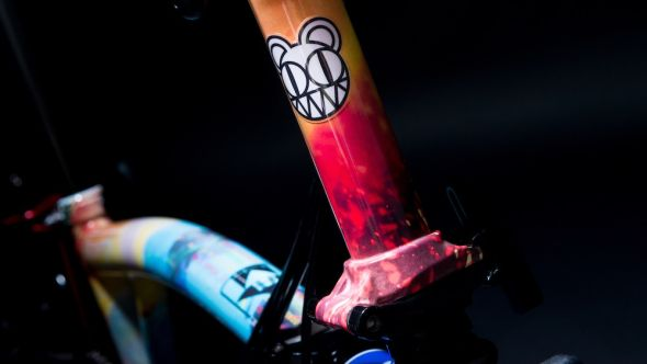 Radiohead's Brompton bike, as designed by Stanley Donwood