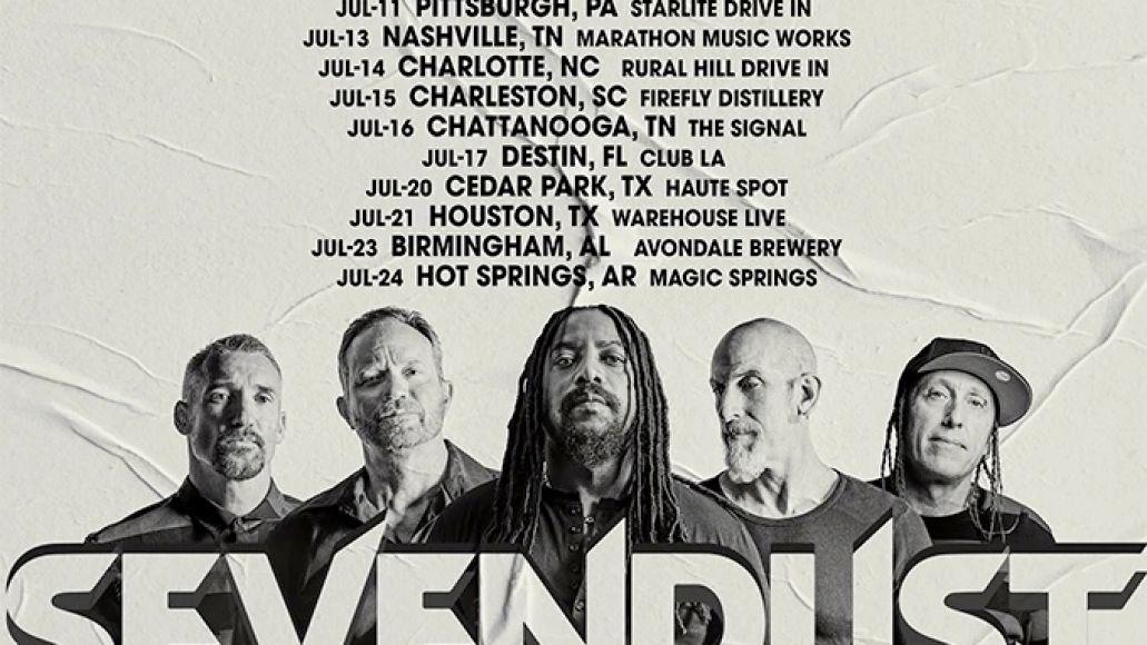 Sevendust 2021 US Tour Poster