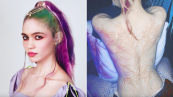 grimes alien scar tattoo white ink instagram