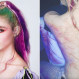 grimes alien scar tattoo white ink instagram