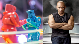 vin diesel rock em sock em robots live action movie Mattel film