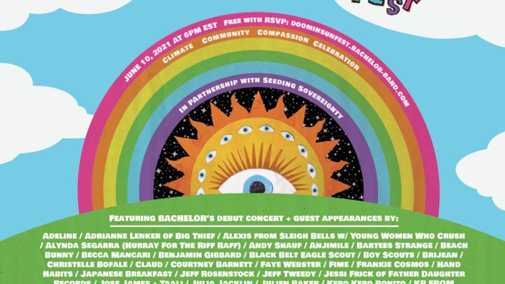 Doomin' Sun Fest poster Bachelor band livestream festival concert
