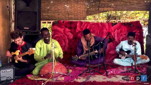 Mdou Moctar Tiny Desk Concert NPR Home live show video stream, screengrab via YouTube/@NPR