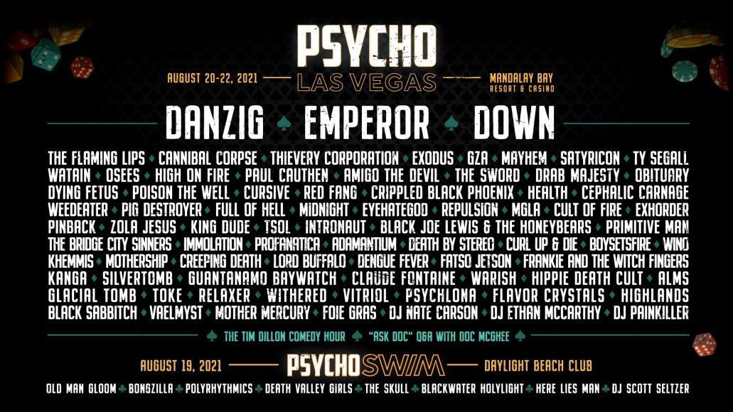 Psycho Las Vegas 2021 Lineup Poster