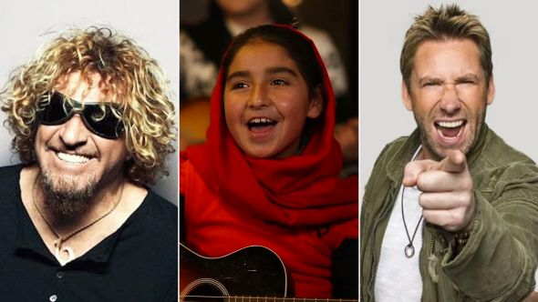 """Sammy Hagar and Chad Kroeger team up with Afghan schoolgirls for """"Fly Like an Eagle"""" cover"""