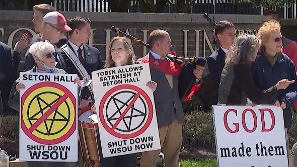 WSOU Protest Satanic Music
