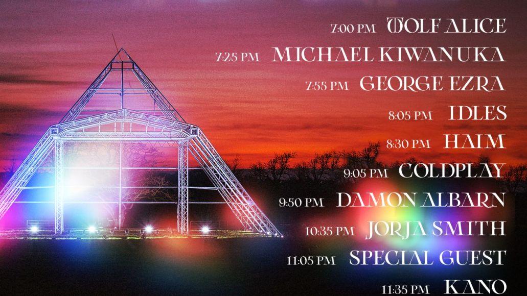 glastonbury livestream schedule set times