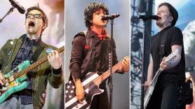Weezer (photo by Ben Kaye), Green Day (photo by Heather Kaplan), and Fall Out Boy (photo by Philip Cosores)