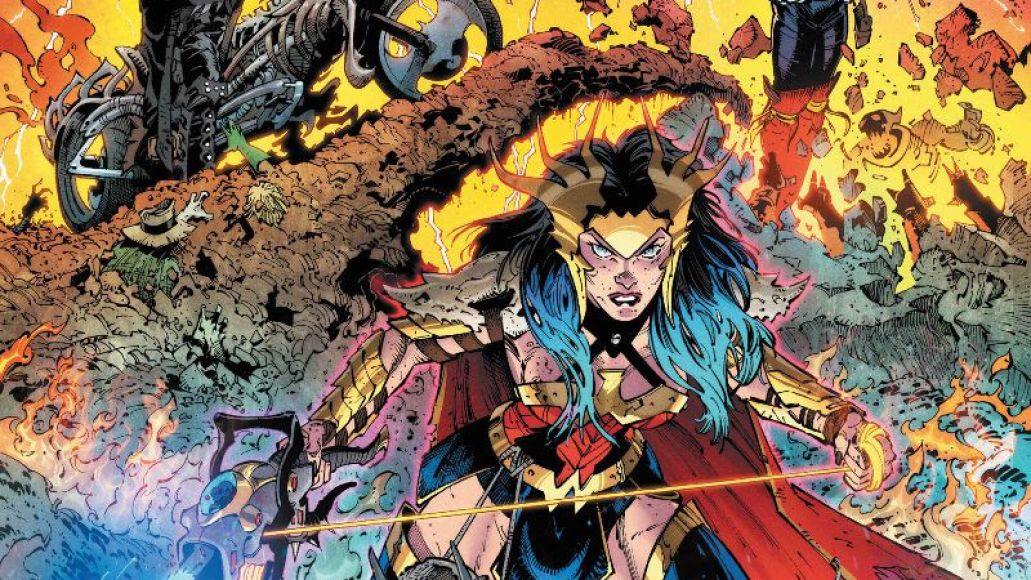Dark Nights Death Metal Cover Art Dark Nights: Death Metal Soundtrack Features Rise Against, Manchester Orchestra, Mastodon, Soccer Mommy: Stream