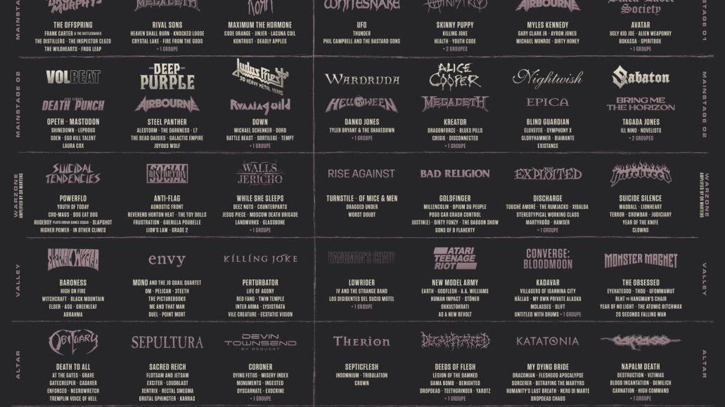 Hellfest 2022 lineup poster