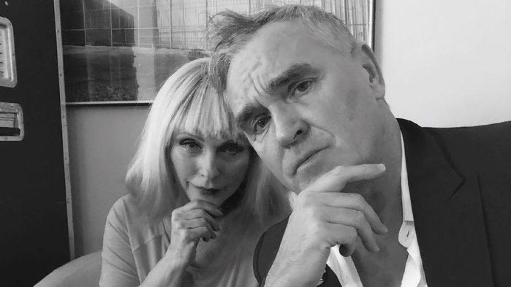 Morrissey with Blondie's Debbie Harry