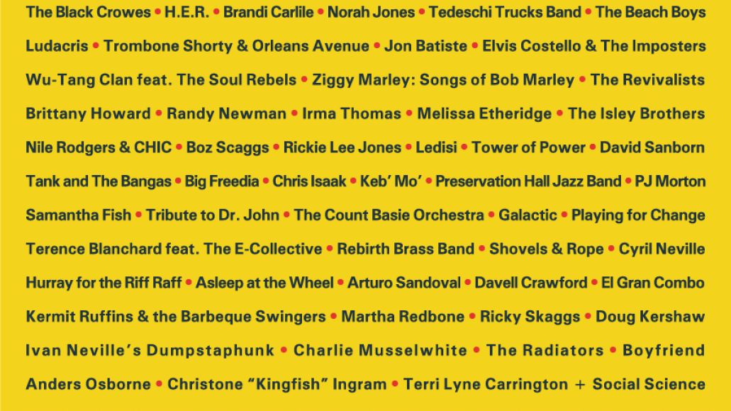 New Orleans Jazz Fest 2021 lineup