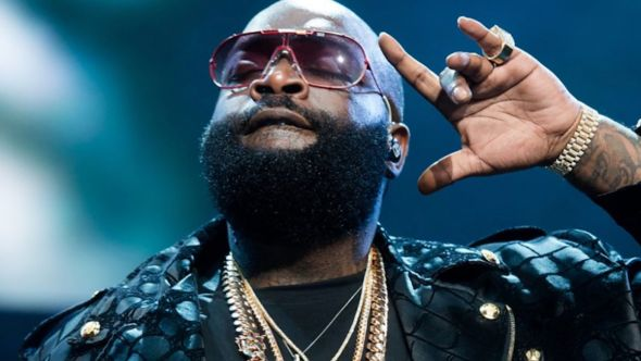 Rick Ross mows lawn mansion save money quote mowing grass