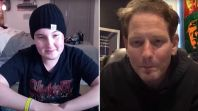 Corey Taylor chats with terminally ill fan Trevor
