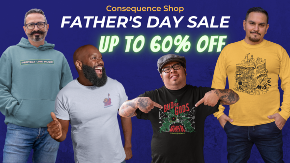 consequence shop father's day sale discount 60% music merch gwar protect live music
