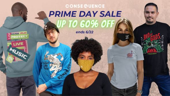 consequence shop prime day sale amazon discounts merch protect live music gwar face masks shirts hoodie gwar cbd