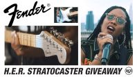 fender signtuare guitar h.e.r win giveaway Juneteenth entry