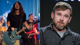 foo fighters ricky schroder anti-vaxxer protest