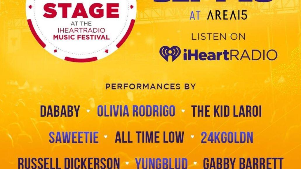 iheartradio music festival 2021 day stage DaBaby Olivia Rodrigo The Kid LAROI