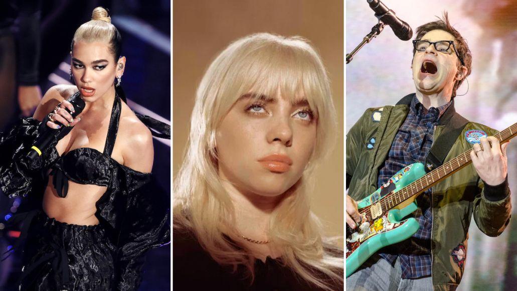 iheartradio music festival 2021 lineup billie eilish weezer dua lipa fest
