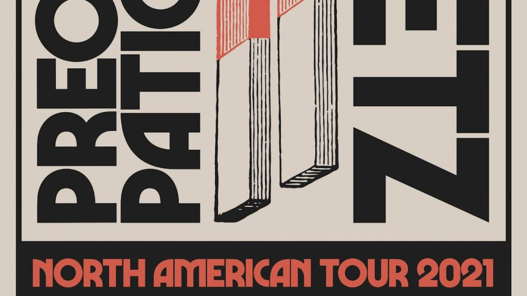 preoccupations metz 2021 north american tour dates poster