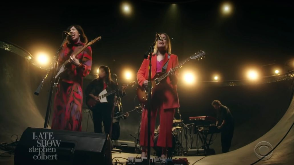 sleater-kinney worry with you stephen colbert the late show watch listen strem