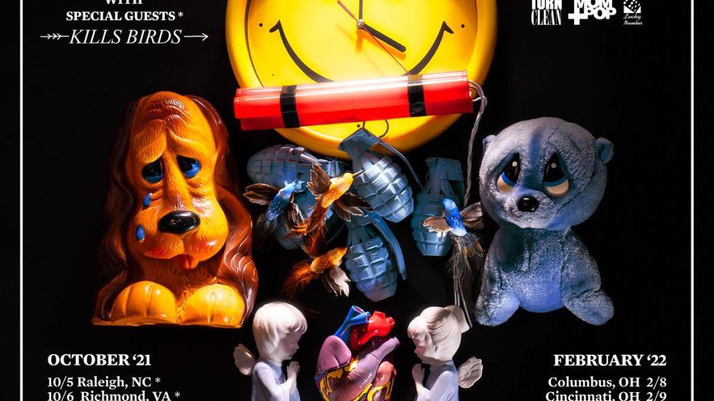 sleigh bells 2021-2022 unannounced album tour poster kills birds