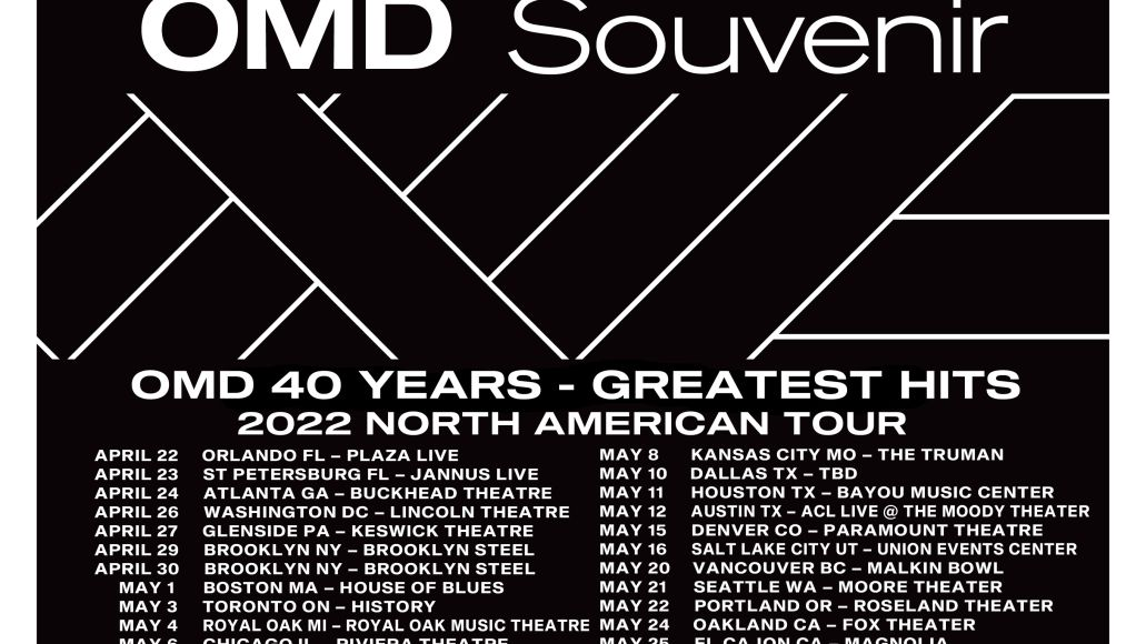 OMD announce tour dates for 2022 US tour. Get tickets here