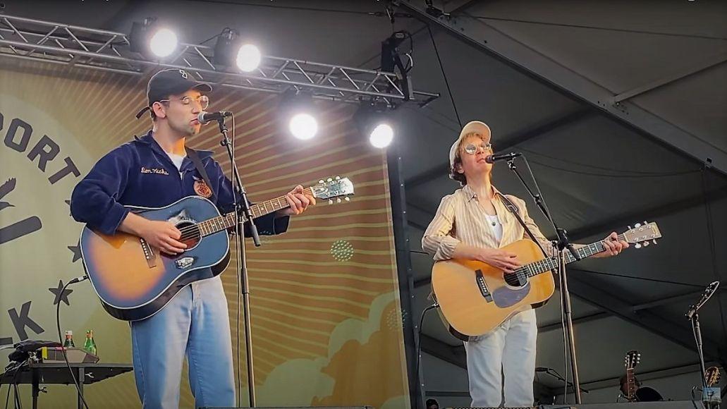 Beck and Jack Antonoff Beck Newport Folk Festival setlist set Sharon Van Etten cover Fred Armisen video live 2021 fest, screengrab via YouTube/Amy Karibian