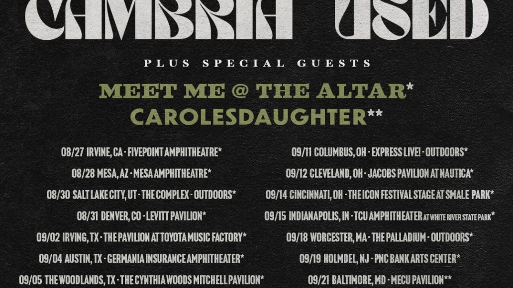 Coheed The Used Tour Dates Poster
