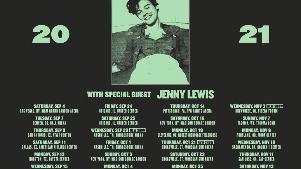 Harry Styles 2021 tour dates