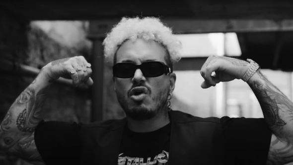 J Balvin Metallica cover Wherever I May Roam stream music video new song, photo via YouTube