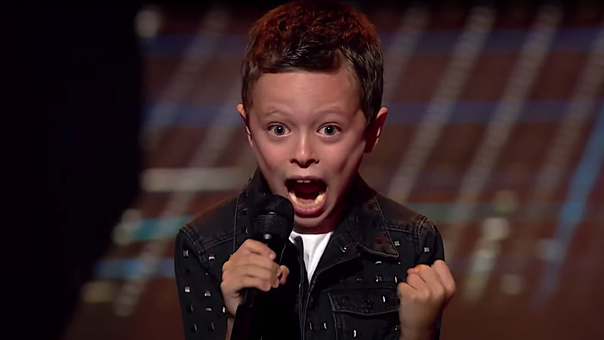 """AC/DC-Loving Boy Performs Europe's """"Closing Countdown"""" on The Voice Youngsters"""