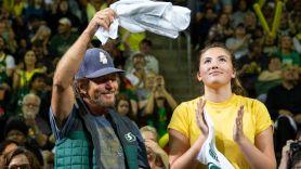 Eddie Vedder with Olivia Vedder, photo by Lindsey Wasson/Getty Images