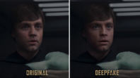 Lucasfilm deepfaker Shamook YouTube video Star Wars deepfake videos The Mandalorian Luke Skywalker deepfake, screengrab via YouTube/@Shamook