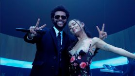 Ariana Grande off the table The Weeknd video stream new song music single vimeo youtube The Weeknd and Ariana Grande, photo courtesy of the artist/@ArianaGrande