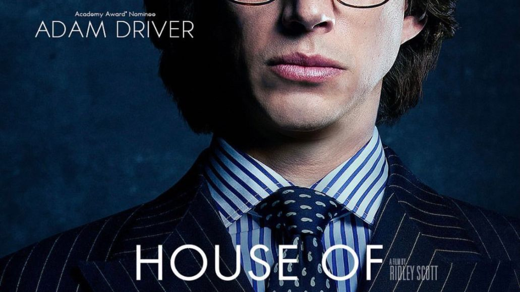 adam driver house of gucci poster first look