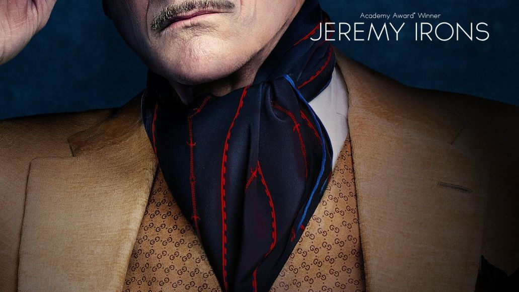 jeremy irons house of gucci poster first look