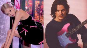 john mayer rosé blackpink pink guitar gift slow dancing in a burning room cover