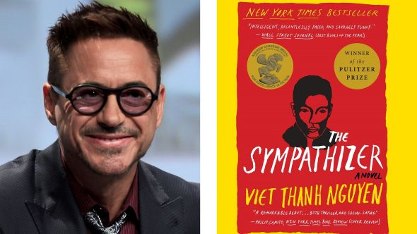 Robert Downey Jr The Sympathizer series TV show HBO book A24 novel Robert Downey Jr. (photo by Gage Skidmore) and The Sympathizer (photo via Viet Thanh Nguyen/Grove Press)
