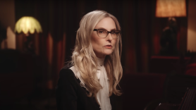 Aimee Mann Queens of the Summer Hotel stream new album song single Suicide Is Murder music video Amy Man, photo via YouTube/MMXXI SuperEgo Records
