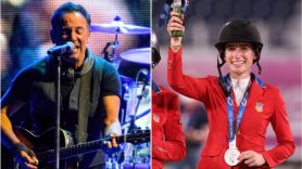 Bruce Springsteen's daughter Jessica wins Olympic silver medal for team equestrian jumping